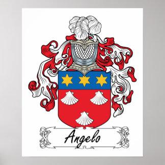 Angelo Family Crest Poster