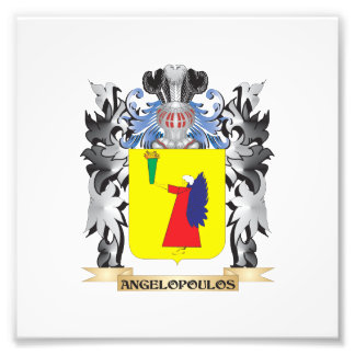 Angelopoulos Coat of Arms - Family Crest Art Photo