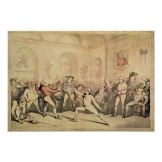 Angelo's Fencing Room, pub. 1787 Poster