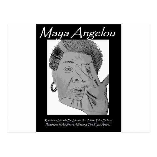 Angelou Quote Greeting Postcard