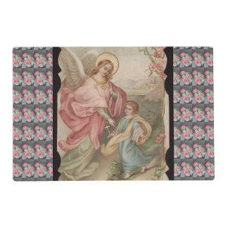 Angels Angeles laminated placemat