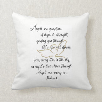 Angels are guardians of hope & strength..pillow cushion