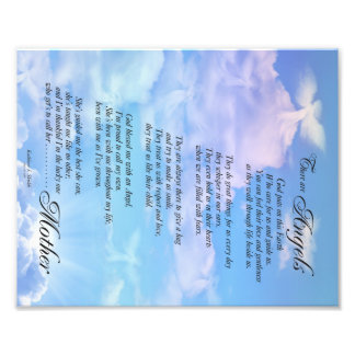 Angels are Mothers Poem Photo Print