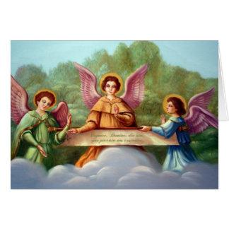 Angels encourage notecard