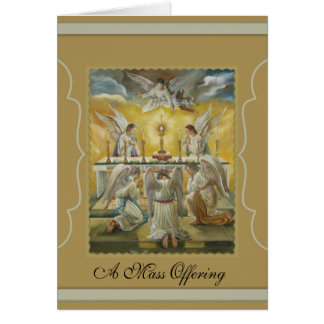 Angels Eucharist Adoration Altar Monstrance Card
