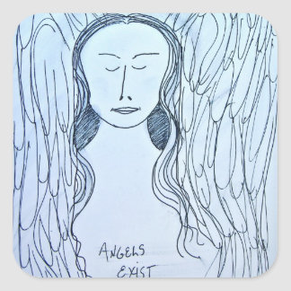 Angels Exist Stickers