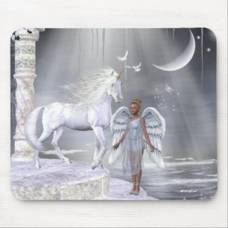 Angels Fae Unicorns Mousepad