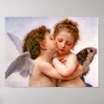 Angels First Kiss, Bouguereau Fine Art Poster