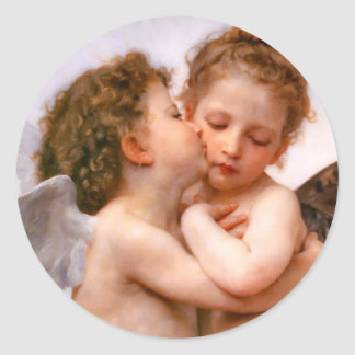 Angels First Kiss Bouguereau Stickers