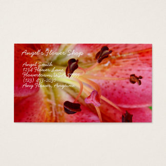 Angel's Flower Shop Business Card