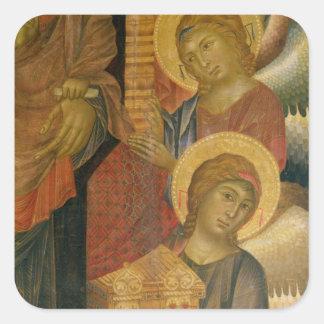 Angels from the Santa Trinita Altarpiece Square Stickers