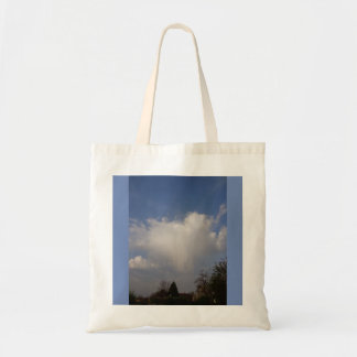 Angel's greeting in the morning tote bag