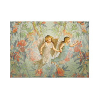 Angels in the Garden Gallery Wrap Canvas