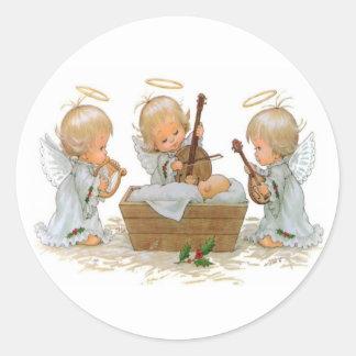 Angels in the Manger Sticker