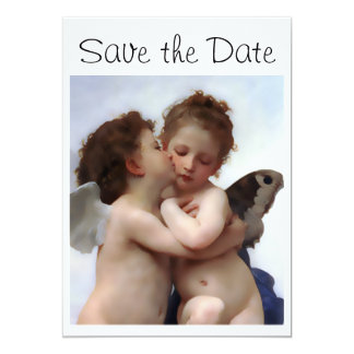 Angels Kiss Save the Date Announcement Card