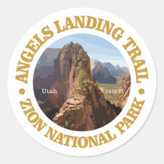 Angels Landing Classic Round Sticker