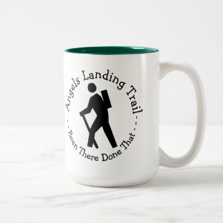 Angels Landing Trail Two-Tone Coffee Mug