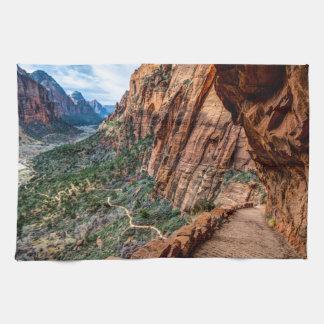 Angel's Landing Trail Zion National Park - Utah Towels