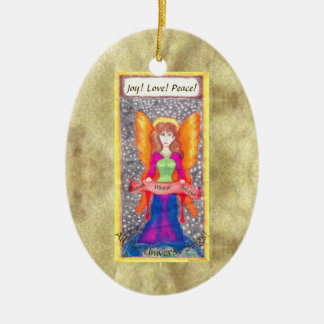 Angels of Earth Yule Solstice Ceramic Ornament