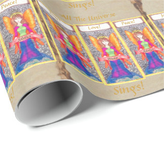 Angels of Earth Yule Solstice Wrapping Paper