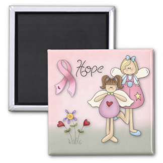 Angels of Hope Breast Cancer Awareness Square Magnet