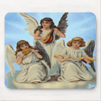 Angels On A Cloud Mouse Pad