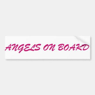 Angels on Board angel bumper sticker stickers