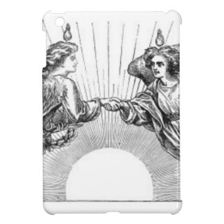 Angels over depiction of sun. iPad mini cases