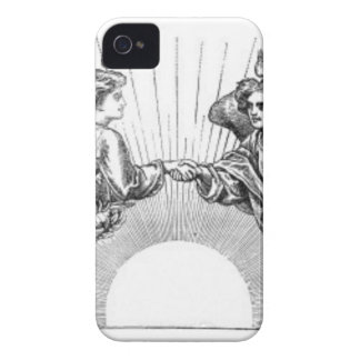 Angels over depiction of sun. iPhone 4 covers