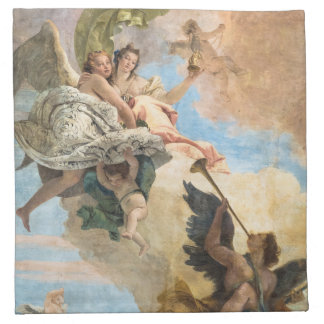 Angels painted in classic style napkin