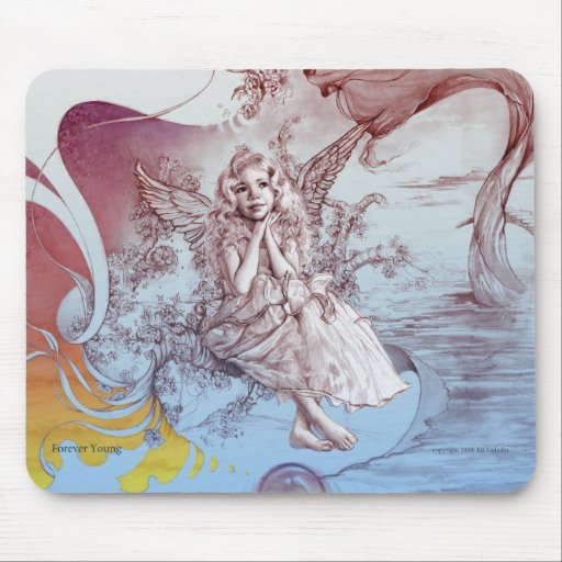 """""""Angel's Path""""  Mouse pad with angel image"""