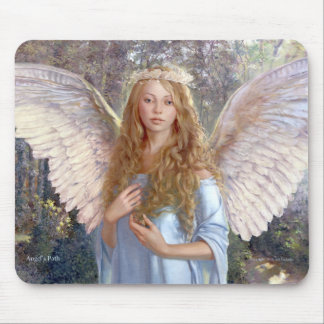 """Angel's Path""  Mouse pad with angel image"