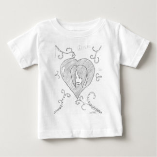 Angels Peace Love Live Drawing Baby T-Shirt