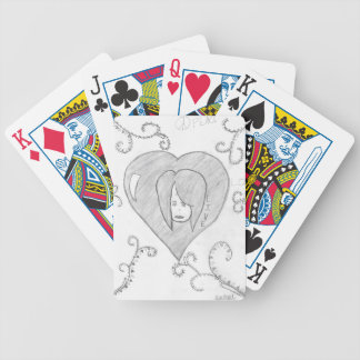 Angels Peace Love Live Drawing Bicycle Playing Cards
