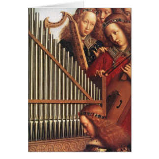 ANGELS PLAYING MUSIC CARD