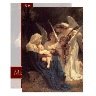 Angels Serenade Mary Vintage Christmas Customized Card