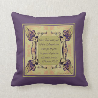 Angels to watch over you Purple Green Fall Colors Pillow
