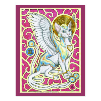 Angels Walk on Four Paws Postcard