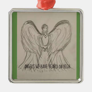 Angels we have heard on high metal ornament