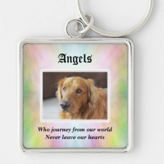 Angels Who Journey Pet Sympathy Keychain
