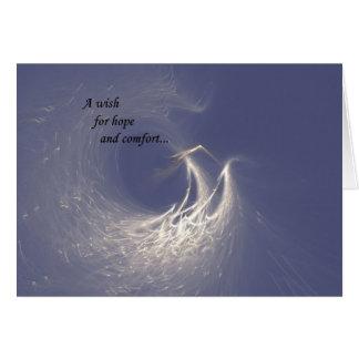 Angel's Wings Sympathy Card