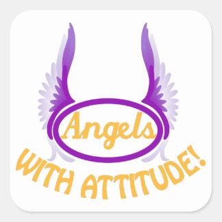 Angels With Attitude Square Sticker