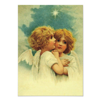 Angels with Blue Eyes 5x7 Paper Invitation Card
