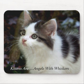 Angels With Whiskers kitten Mousepad