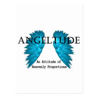 Angeltude (Attitude) tee shirt design Postcard