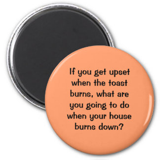 anger. food for thought 6 cm round magnet