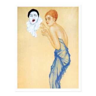 Anger - from the Pierrot's Love Series Postcard