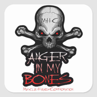 Anger In My Bones Square Sticker