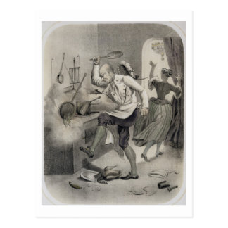 Anger in the Kitchen, from a series of prints depi Postcard