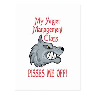 ANGER MANAGEMENT CLASS POSTCARD